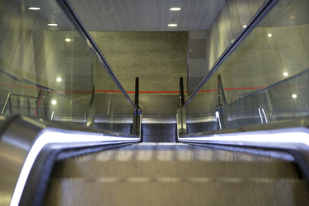 Modern escalator at airport