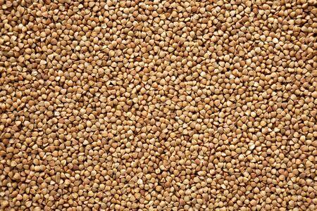 Uncooked Roasted Buckwheat background