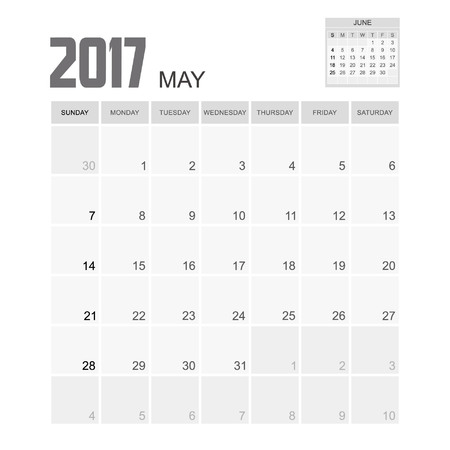event planner: 2017 MAY Calendar Planner Design.