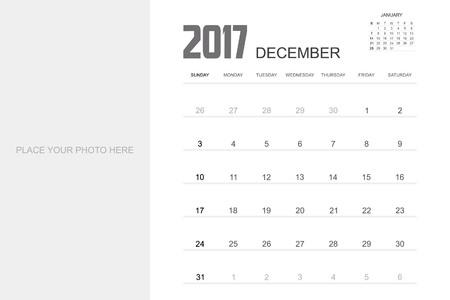 december calendar: 2017 DECEMBER Calendar Planner Design.