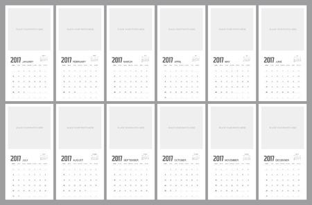 event planner: 2017 Calendar Planner Design.