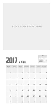event planner: 2017 APRIL Calendar Planner Design.