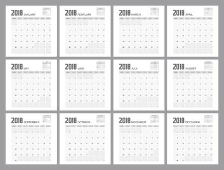 2018日历计划设计。