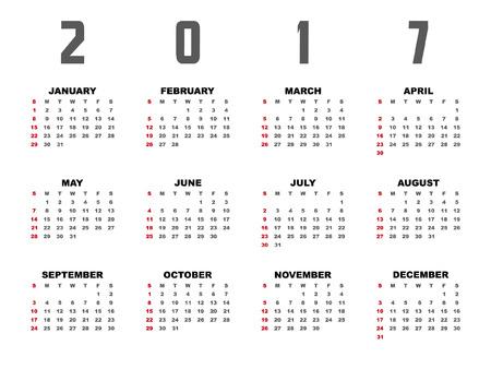 2017日历规划师设计。