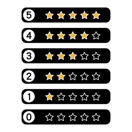 top class: Stars rating.Vector illustrator.