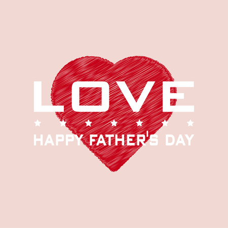 Happy Fathers Day background. Illustration