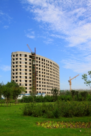Construction and greening under the blue sky, in China Stock Photo - 18565151