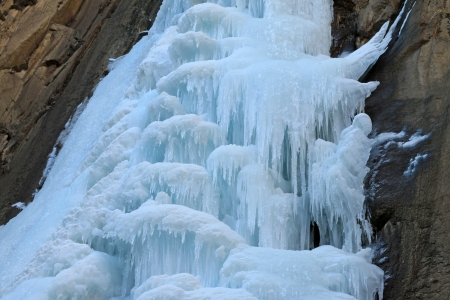 icefall: ice-fall in mountains in the wild, north China