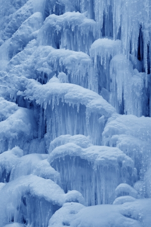 ice-fall in mountains in the wild, north China