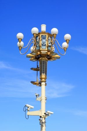 lights in the blue sky, Luannan County, Hebei Province, China. Stock Photo - 18853676