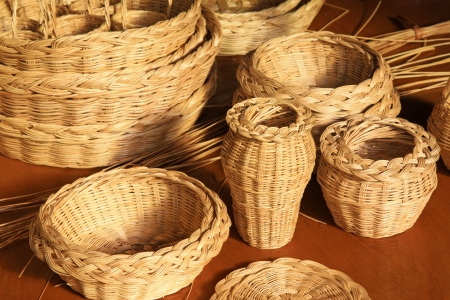 wicker manual techniques of objects in rural china