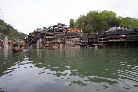 Phoenix County, April 15  Tuojiang River both banks scenery on April 15, 2012, Phoenix County, Hunan Province, China