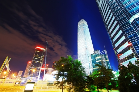 night scenes of beijing financial center district in a scenic area, China