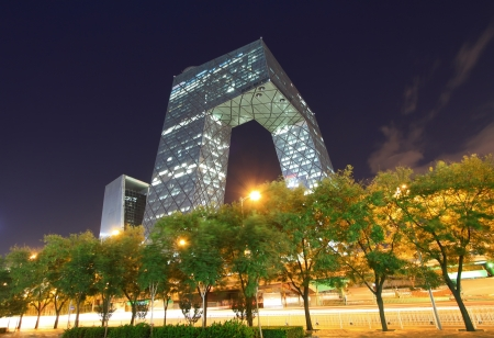 Beijing September 13:China CCTV office building in Beijing on September 13, 2012