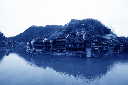 Phoenix County, April 15: Tuojiang River both banks scenery on April 15, 2012, Phoenix County, Hunan Province, China