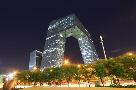 Beijing September China CCTV office building in Beijing on September 13, 2012  스톡 콘텐츠