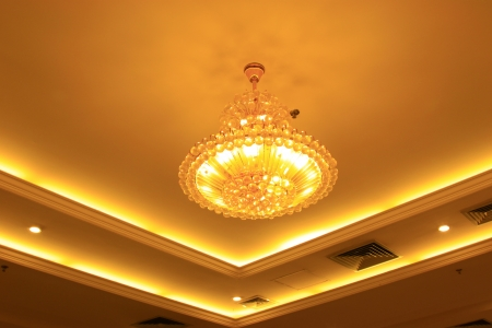 glass chandeliers hanging from the ceiling Stock Photo - 20513226
