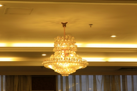 glass chandeliers hanging from the ceiling Stock Photo - 20513227