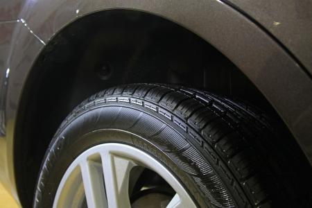 TANGSHAN - JUNE 2  Car wheels in a car sales shop on June 2, 2013,Tangshan, Hebei Province, China