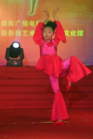 LUANNAN - JUNE 13  Dance performance on the stage on June 23, 2013, Luannan, Hebei Province, China