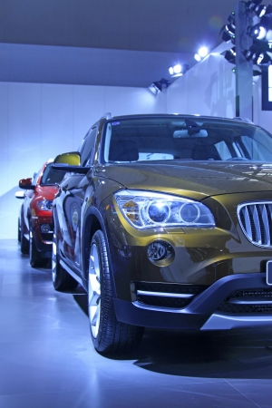 TANGSHAN - JUNE 2  The new concept BMW motor cars in a car sales shop on June 2, 2013,Tangshan, Hebei Province, China  Editorial