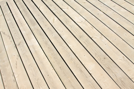 closeup of wood board in a park on the platform Stock Photo - 20897903