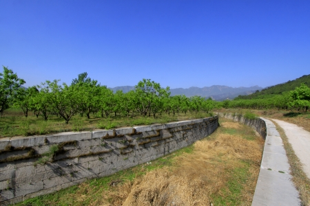 hebei: The manger ditch in Zunhua, Hebei Province, china.