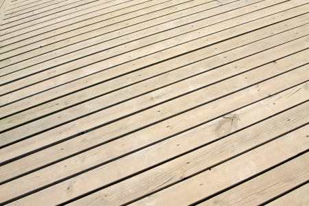 closeup of wood board in a park on the platform Stock Photo - 20940139
