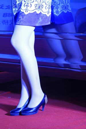 heeled: closeup of photo, high heeled shoes of female model   Editorial