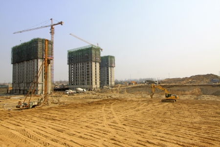 construction site: high rise residential construction site in a city, north china