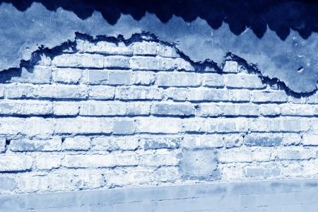 muro rotto: primo piano di muro rotto in un giardino Archivio Fotografico