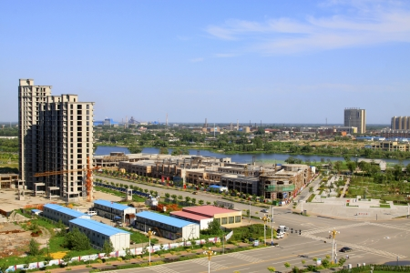 City Scenery in Luannan County, Hebei Province, China