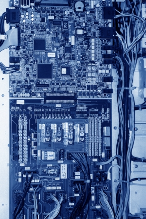 modules: closeup of circuit boards, Universal application of the current high-tech products, especially in the IT technology.