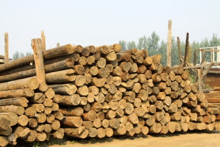 corner of the timber market, closeup of photo Stock Photo - 23366769