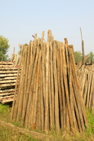 corner of the timber market, closeup of photo Stock Photo - 23367057