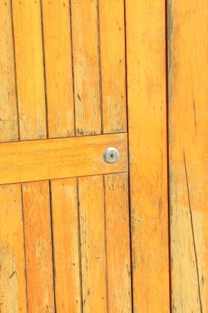 closeup of wooden door in a park on the platform Stock Photo - 23367120