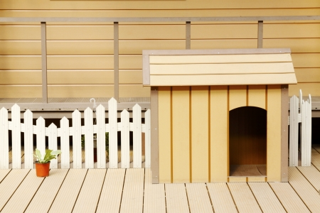 Pet dog's comfort zone in a shop Standard-Bild