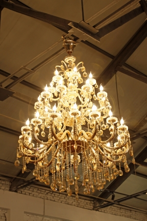 droplight: glass chandeliers hanging from the ceiling