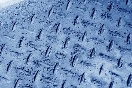 restore ancient ways: paint peeling waste steel, closeup of photo Stock Photo