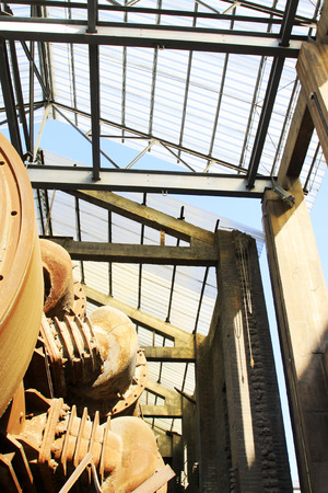 restore ancient ways: abandoned mechanical equipment in a factory, north china Stock Photo