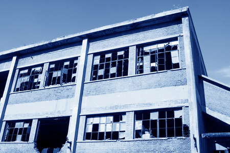 abandoned factory workshop, tangshan city, hebei province, China.  Stock Photo