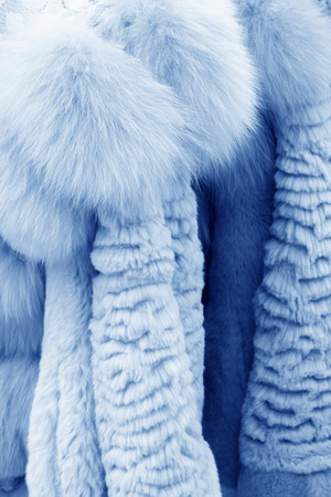 Well-organized fur clothing in a shop, north china Stock Photo - 26298771