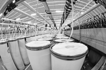 LUANNAN COUNTY - DECEMBER 20: The combed cotton production line in the ZeAo spinning LTD., on December 20, 2013, Luannan county, hebei province, China.