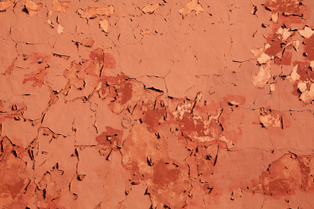 coatings: mottled red walls, in a nostalgia emotions Stock Photo