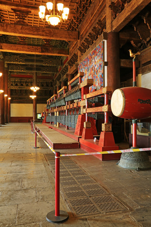 BEIJING - DECEMBER 22: The hall building structure in the Imperial Ancestral Temple, December 22, 2013, Beijing, China.