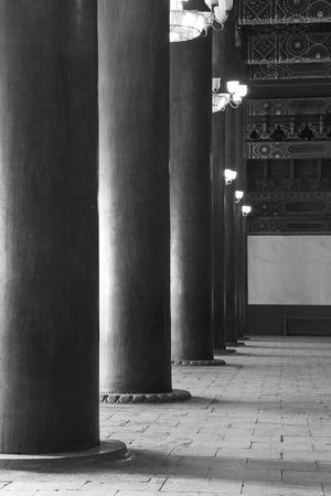 droplight: PECHINO - 22 dicembre: La colonna e droplight chiuso nel Tempio Ancestrale ed Imperiale, 22 dicembre 2013, Pechino, Cina.