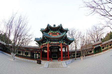BEIJING - December 22: The Happy Garden building landscape, in the Zhongshan Park, on December 22, 2013, beijing, china. Stock Photo - 27224991