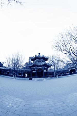BEIJING - December 22: The Happy Garden building landscape, in the Zhongshan Park, on December 22, 2013, beijing, china. Stock Photo - 27224994