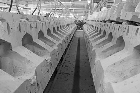 semifinished: clay production line in making mud workshop, in the ZhongTong Ceramics Co., Ltd. January 5, 2014, Luannan county, Hebei Province, China.