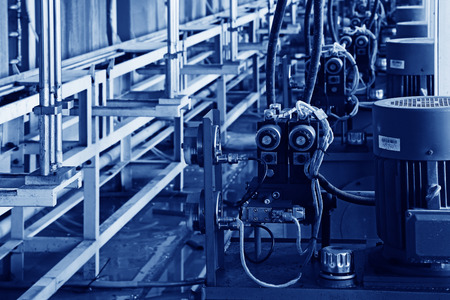 mechanization: LUANNAN COUNTY - JANUARY 5: The professional equipment production line, in the ZhongTong Ceramics Co., Ltd. January 5, 2014, Luannan county, Hebei Province, China.